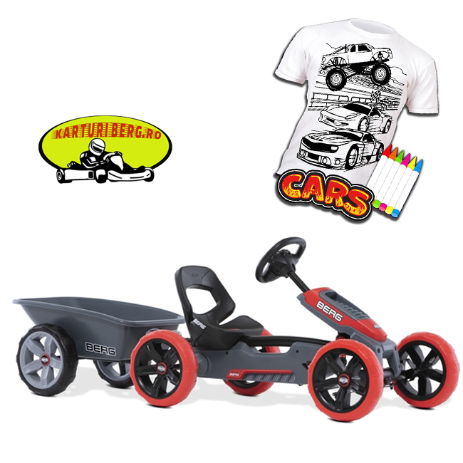 Kart Berg Reppy Rebel + Remorca M + Cadou Tricou Splat Planet