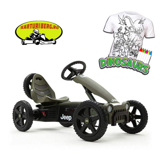 Kart BERG Jeep Adventure + Cadou Tricou Splat Planet