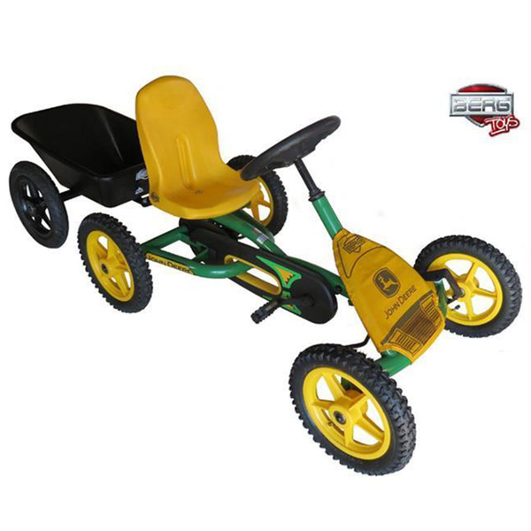 Kart BERG Junior John Deere Buddy + Remorca Junior + Cadou Tricou Splat Planet