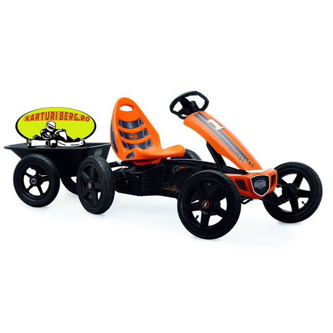 Kart BERG Rally Orange + Remorca + Carlig + Cadou Tricou Splat Planet