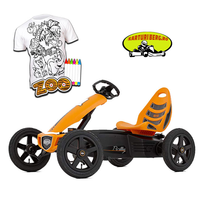 Kart BERG Rally Orange + Cadou Tricou Splat Planet